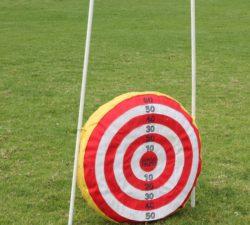 A Velcro golf target
