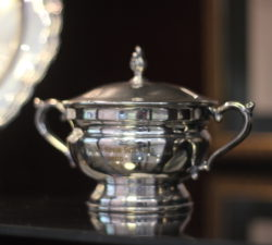 A small silver trophy won by Sally Little